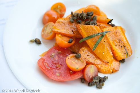 Tomato carrot salad from http://roux44.com