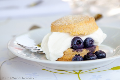 Blueberry cornmeal shortcake from http://roux44.com