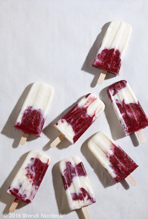 Coconut Lime Cherry Popsicles from http://Roux44.com