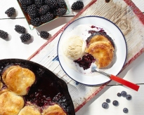 Blackberry cobbler from http://roux44.com