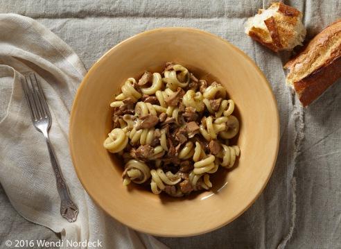 Chanterelle mushroom pasta from http://roux44.com
